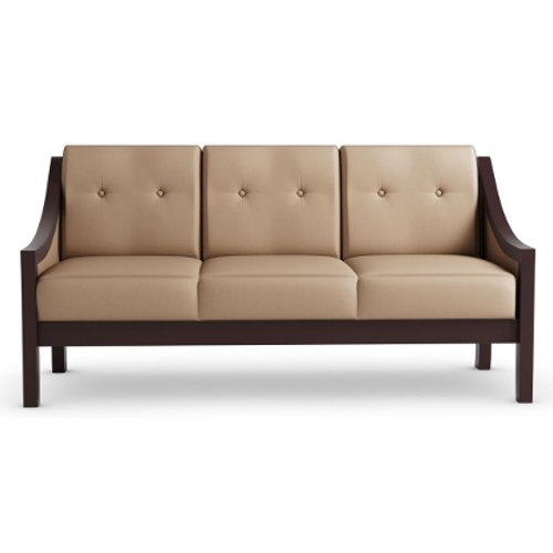 Brown Durian Jesse Three Seater Leatherette Lounge Seating Sofa