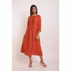 Gathered Plain Kurti