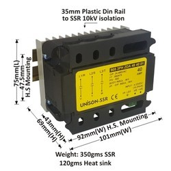 40 AMP 3 PHASE DC TO AC SSR