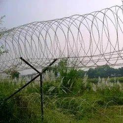 Silver Iron Border Security Fence