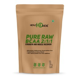 HealthOxide Pure Raw BCAA 2:1:1 Unflavored 250 gm