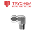 Trychem Stainless Steel Male Elbow, Size: 1/4 Inch