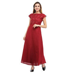Cottinfab Embellished Long Dress