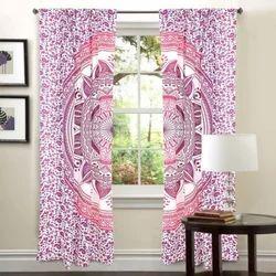Mandala Printed Cotton Curtain