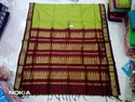 Pure Handloom Cotton Meenakshi Border Saree