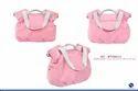 100% Eco-friendly Pink Linen Diaper Bag