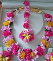 Female Artificial Flower Necklace Set