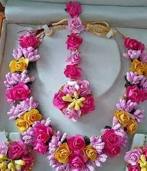 Female Artificial Flower Necklace Set