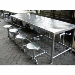 Jg Acero Silver Dining Table