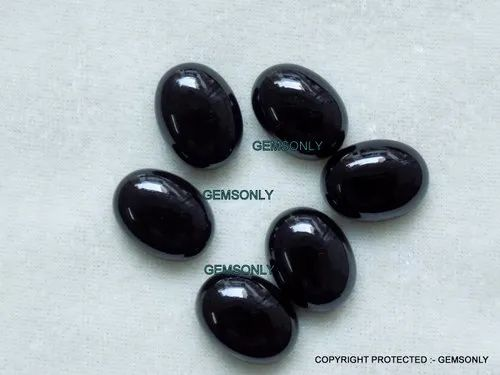10 pieces lot black onyx cabochon oval shape gemstone cabochon for jewelry