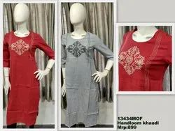 13434 Soft Cotton Embroidery Kurtis For Office Wear