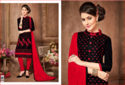 Red And Black Salwar Suit