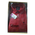 Highness Casual Wear Red Cotton Shirt