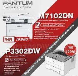 Network Ready Laser Pantum Printer P7102, 600, 35ppm