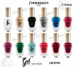 Lyon Beauty Usa Gel Nail Polish, Packaging Size: Simple Size, Box Paking
