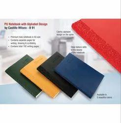 B91 - PU Notebook With Alphabet Design By Castillo Milano