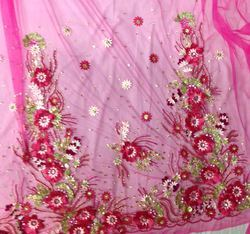 Georgette, Net Designer Embroidery Fabric