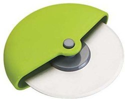 Green Stainless Steel Wheel Pizza Cutter, For Kitchen