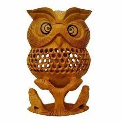 Decorative Undercut Wooden Owl