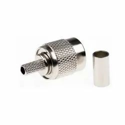 TNC Straight Cable Mount Male Plug Crimp Termination For RG58
