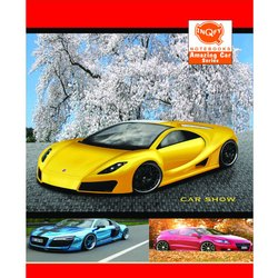 INQFY Single Line Car Series-Soft Cover School Notebook, for Writing