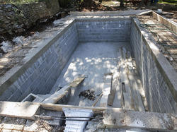 Swimming pool construction swimming pool construction - Cinder block swimming pool construction ...