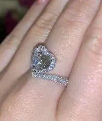 Heart Cut Moissanite Ring Shape