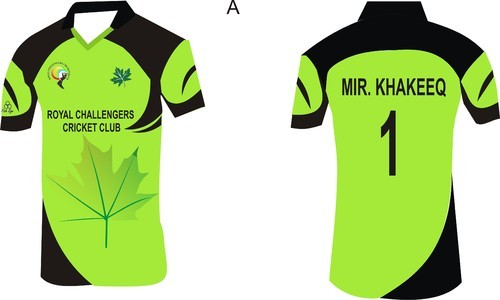 Fish Eye Half Sleeves Sublimation Cricket Jersey