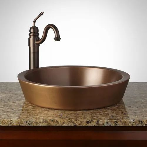 Table Top Copper Wash Basin At Rs 8500