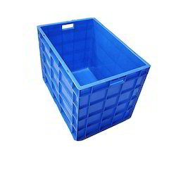HDPE Blue Plastic Fish Crate