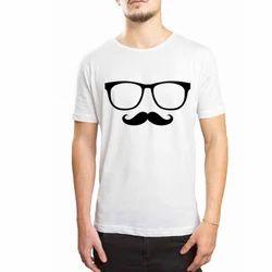 Dtaar Mustache Glasses Men T Shirt