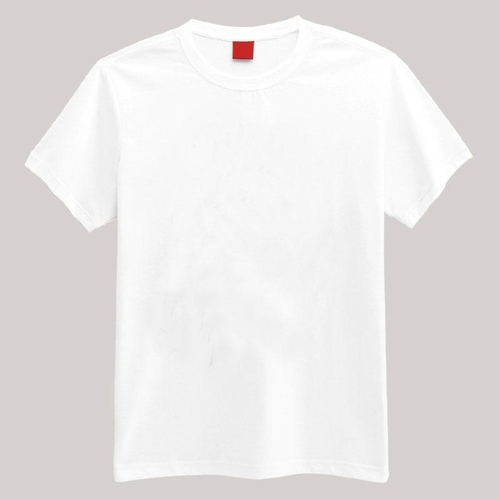 3d7cb755204 100% Cotton Basic Round Neck White T Shirts 140 -160 GSM at Rs 54 ...