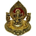 Shiv Enterprises Golden (gold Plated) Aluminium Riddi Siddi Ganesh Handicraft Statue, Packaging Type: Box