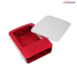White And Red Official Raspberry Pi Red & White Case