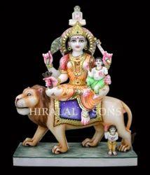 Ambika Devi Marble Statue