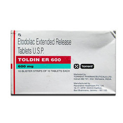 Etodolac Extended Release 600mg Tablets