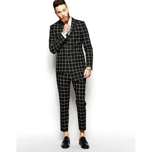 5f2c7a84 Mens Casual Checked Suit