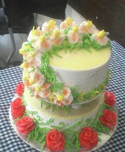 Round Shape Wedding Cake At Rs 450 Cake Shaadi Ka Cake