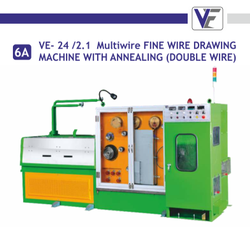 VE-24/2.1 Multiwire FINE Wire Drawing Machine With Aneealing (Double Wire )