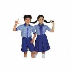Polyester Blue School Uniform Shirts And Shorts