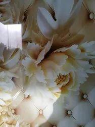 Flowered Designer Glass
