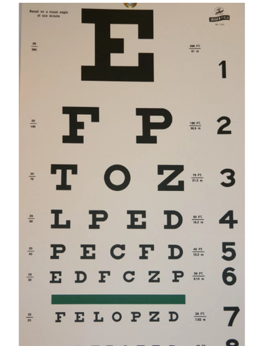 Eye Testing Chart At Rs 350 Piece Medical Technologies New Delhi