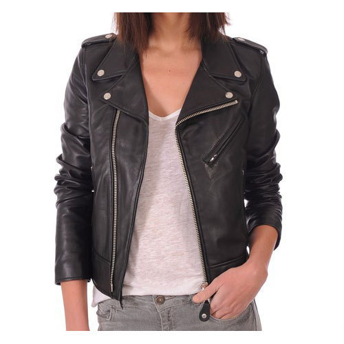 a412bc8c6998 Black Ladies Fancy Leather Jacket, Rs 4200 /piece, A R Leathers | ID ...