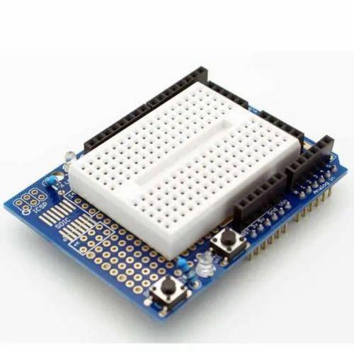 Prototype Shield with Breadboard for Arduino UNO