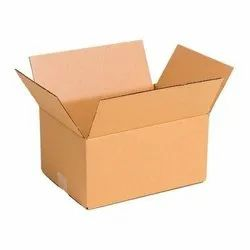 Single Wall - 3 Ply Rectangle Corrugated Cardboard Box, for packaging