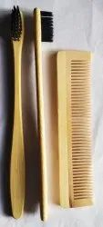 Wooden Tooth Brush And  Comb