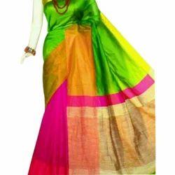 Silk Designer Party Wear Handloom Saree, Length: 6 m