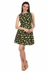 Cotton Animal Print Short Dress