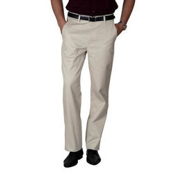 White Mens Formal Trousers