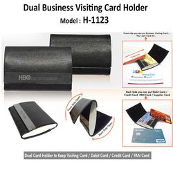 Dual Visiting Card Holder H-1123